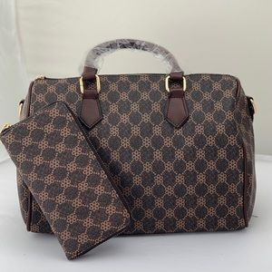 Handbags - 2pDuffle Bag Crossbody  Satchel Hand Bag, Wristlet